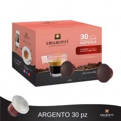 Box da 30 capsule compatibili Lavazza a modo mio Lollo caffe'.Miscela argento.s