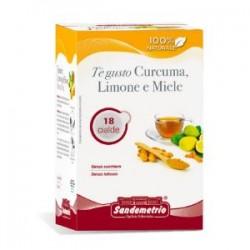 Te' gusto Curcuma Limone e Miele astuccio da 18 cialde Sandemetrio s
