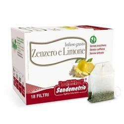 infuso Zenzero e Limone Bio astuccio da 18 filtri Sandemetrio s