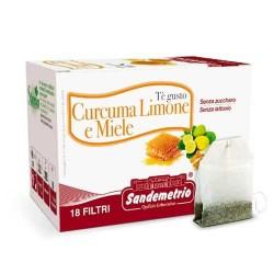 Te' gusto Curcuma Limone e Miele astuccio da 18 filtri Sandemetrio s