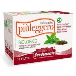 infuso tisana Piu' Leggero bio in astucci da 18 filtri sandemetrio s