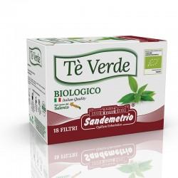 te' Verde Bio in astucci da 18 filtri Sandemetrio s