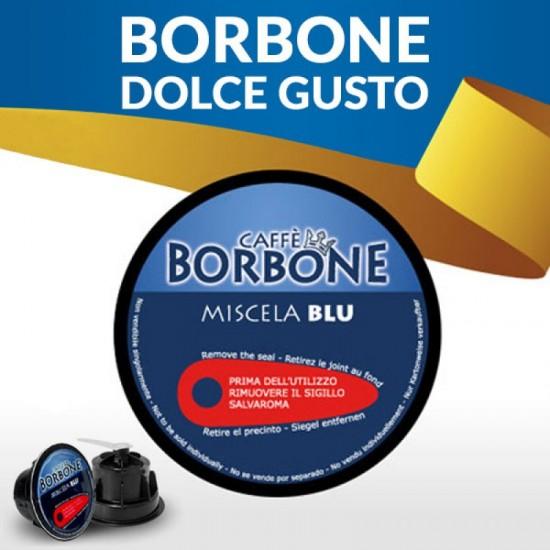 Caffe' Borbone compatibile Dolce Gusto da 15 capsule,miscela blu (nobile) s